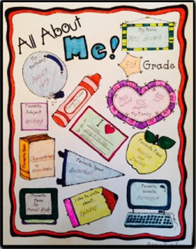 """FREE """"All About Me"""" Back to School Poster"""