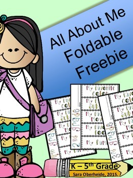FREE All About Me Foldable for Back to School