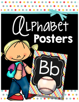 FREE Alphabet Posters - Chalkboard - Letters