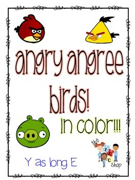 FREE! Angry AngrEE Birds - Y as Long E in COLOR!!!