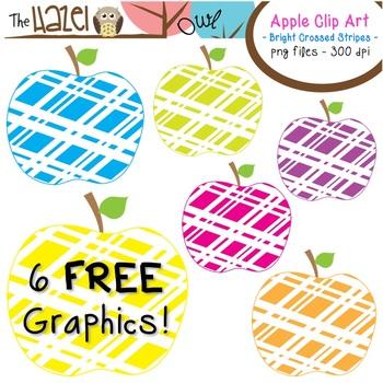FREE Apples Set: Clip Art Graphics for Teachers {Bright Cr