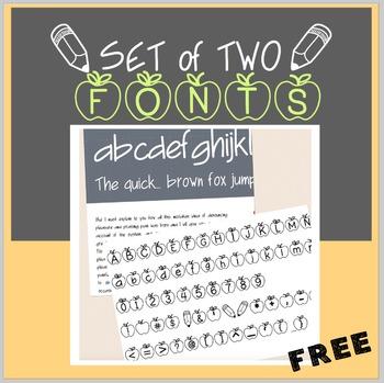 FREE Apples & Upward Swing Handwriting Font-personal class