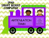 FREE Articulation Train - CVC Words and Final Consonants -