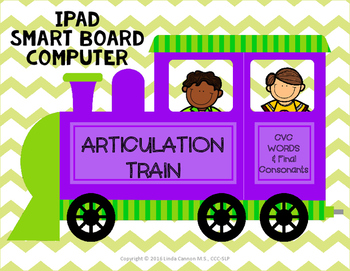 FREE Articulation Train - CVC Words and Final Consonants