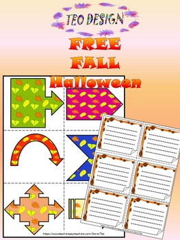 Free Fall - Halloween - Frames - Colourful Arrows - Clip Art