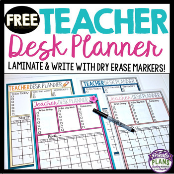 FREE BACK TO SCHOOL DESK PLANNER