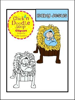 FREE Baby Jesus Clip Art