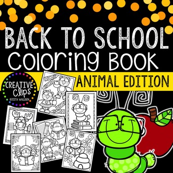 FREE Back to School ANIMALS Coloring Book {Made by Creativ