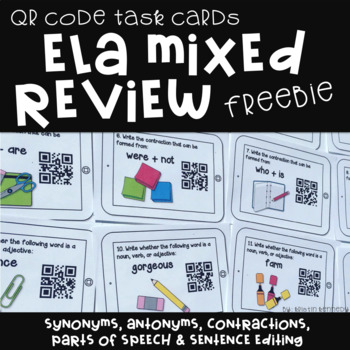 FREE Back to School ELA Scan the Room