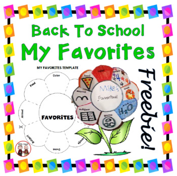FREE Back to School Favorites Interactive Foldable Activity
