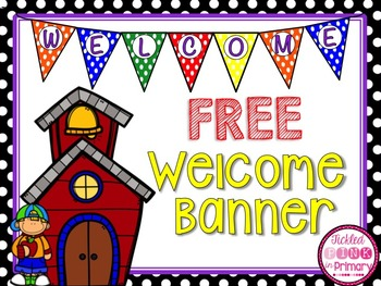 FREE Back to School Welcome Banner