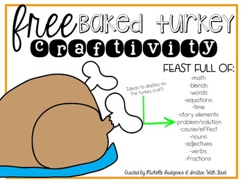 FREE Baked Turkey Craftivity