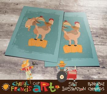 FREE Farm Animals Barnyard Clip Art