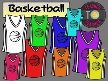 FREE Basketball Jerseys {TeacherToTeacher Clipart}