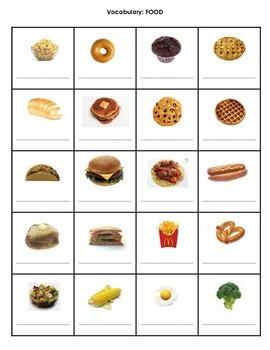 FREE Beginner ESL Vocabulary - FOOD
