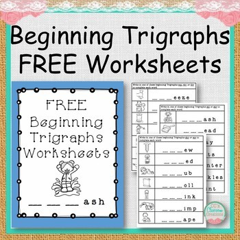 FREE Beginning Trigraphs Worksheets