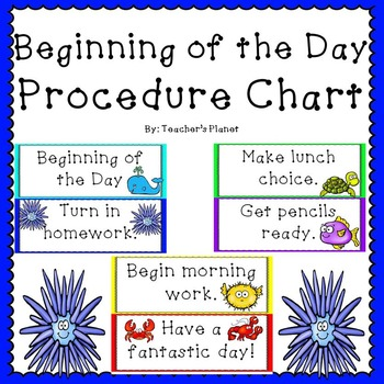 FREE Beginning of the Day Procedure Chart!