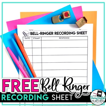 FREE Bell-Ringer Activity Log