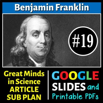 Benjamin Franklin -Great Minds in Science Article #19- Sci