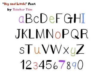 FREE!  Big and Little Font