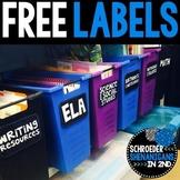 FREE Bin Labels