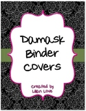 FREE Binder Covers - Black Damask with Pink and Green Accents!