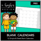 FREE Blank Calendars