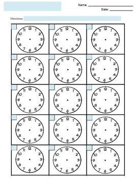 FREE Blank Clock Faces Worksheet