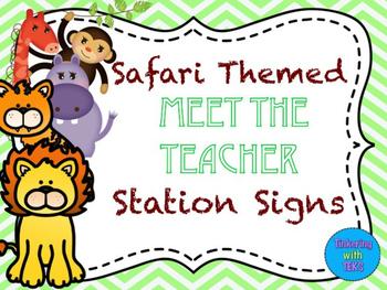 FREE- Blank Safari Meet the Teacher Signs