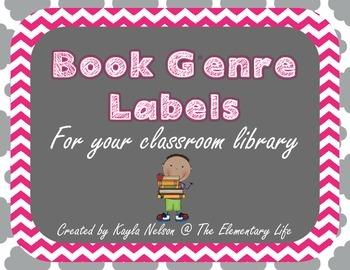 FREE Book Genre Labels