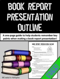 Book Report Presentation Outline {FREE}