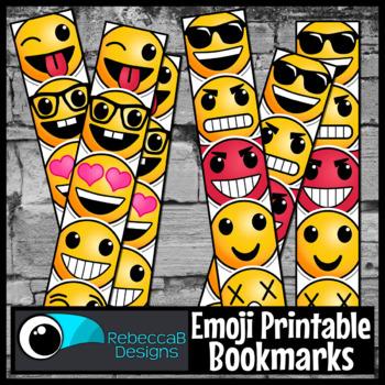FREE Bookmarks: Printable Bookmarks, Emoji Printable