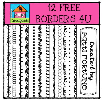 FREE Borders 4U {P4 Clips Trioriginals Digital Clip Art}