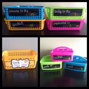 FREE Bright and Cheerful Paper Tray and Caddy Labels