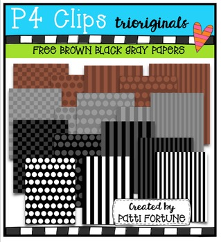 FREE Brown Black and Gray P4 Papers (P4 Clips Trioriginals)