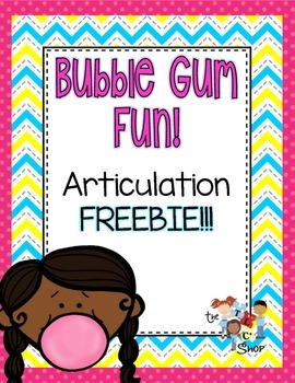 FREE! Bubble Pop! Articulation and Vocabulary Game