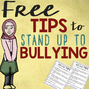 FREE Bully-Proof Tips: How Bystanders & Those Targeted Can