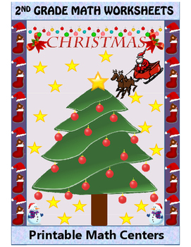 FREE CHRISTMAS Common Core Standards Math-GRADE 2