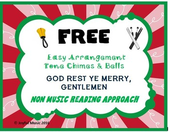 FREE CHRISTMAS HYMN Easy Tone Chimes & Bells GOD REST YE M