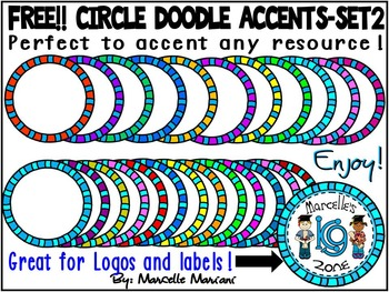 FREE CIRCLE BORDERS/ ACCENTS-SET 2-COMMERCIAL USE-COLOUR A