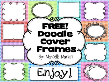 FREE COVER PAGES/DOODLE BORDERS/FRAMES-set 2 -COMMERCIAL USE