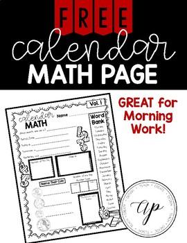 FREE Calendar Math