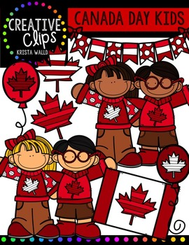 FREE Canada Day KIDS {Creative Clips Digital Clipart}