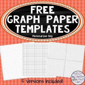 FREE Cartesian Coordinate Plane Graph Paper Templates (Per