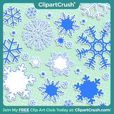 Royalty Free Cartoon Snowflake Clipart Set - 8 Snowflake Accents!