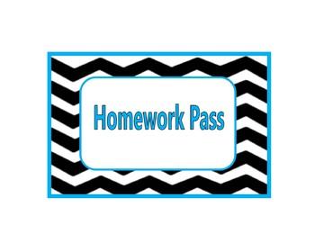 FREE Chevron Homework Pass