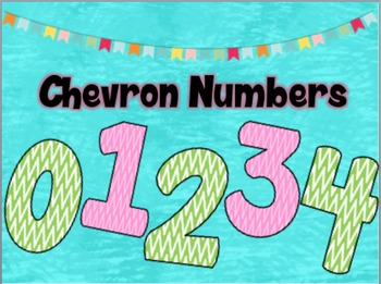 Chevron Numbers 0-9 Clipart
