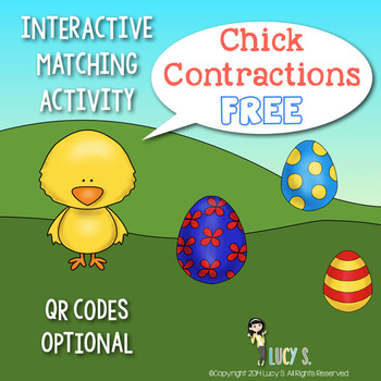 FREE Chick Contractions - Interactive Matching Activity -