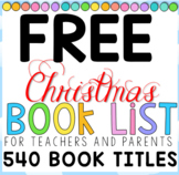 FREE Christmas Book Lists for Teachers and Parents - Text
