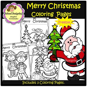 FREE Christmas Coloring Pages ( Made by School Design )